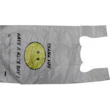 80.00910 - 1/6 HDPE WHITE HAPPY FACE